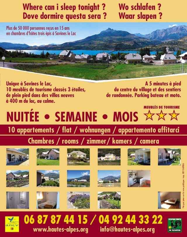 Residence morgon meubl s de tourisme 3 savines le lac savines hautes alpes 05 - Savines le lac office de tourisme ...